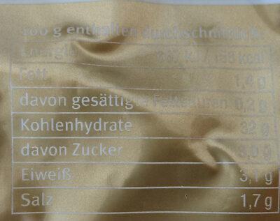 Kartoffel-Gnocchi - Informations nutritionnelles - de