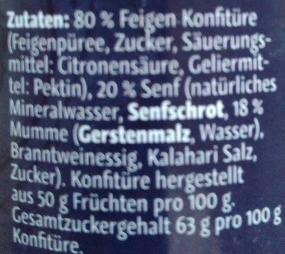 Feigen-Senf-Sauce mit Mumme - Ingrediënten - de