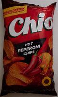 Hot Peperoni Chips - Produit - de