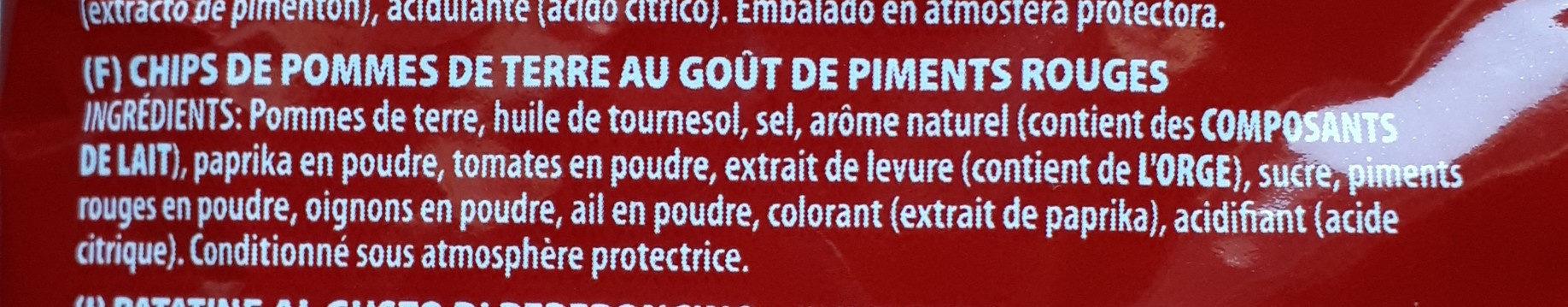 Hot Peperoni Chips - Ingrédients - fr