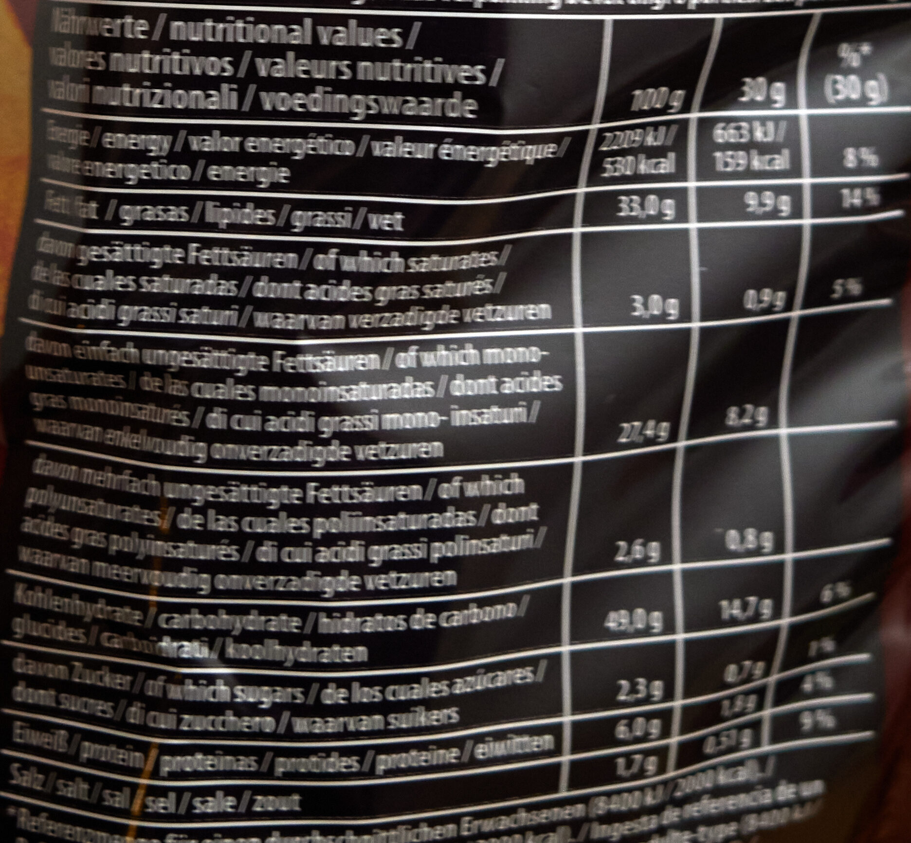 Hot Peperoni Chips - Informations nutritionnelles - de