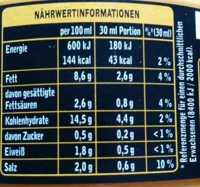 Dip! Hot Cheese - Voedingswaarden - de