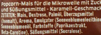Mikrowellen Popcorn Karamell - Ingredienti - de