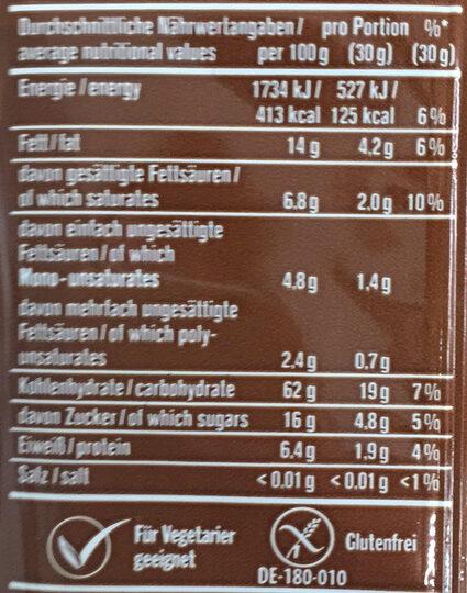 Mikrowellen Popcorn Karamell - Valori nutrizionali - de