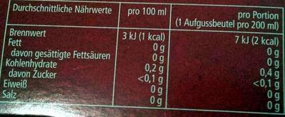 6-Kräuter-Mischung - Voedingswaarden - de