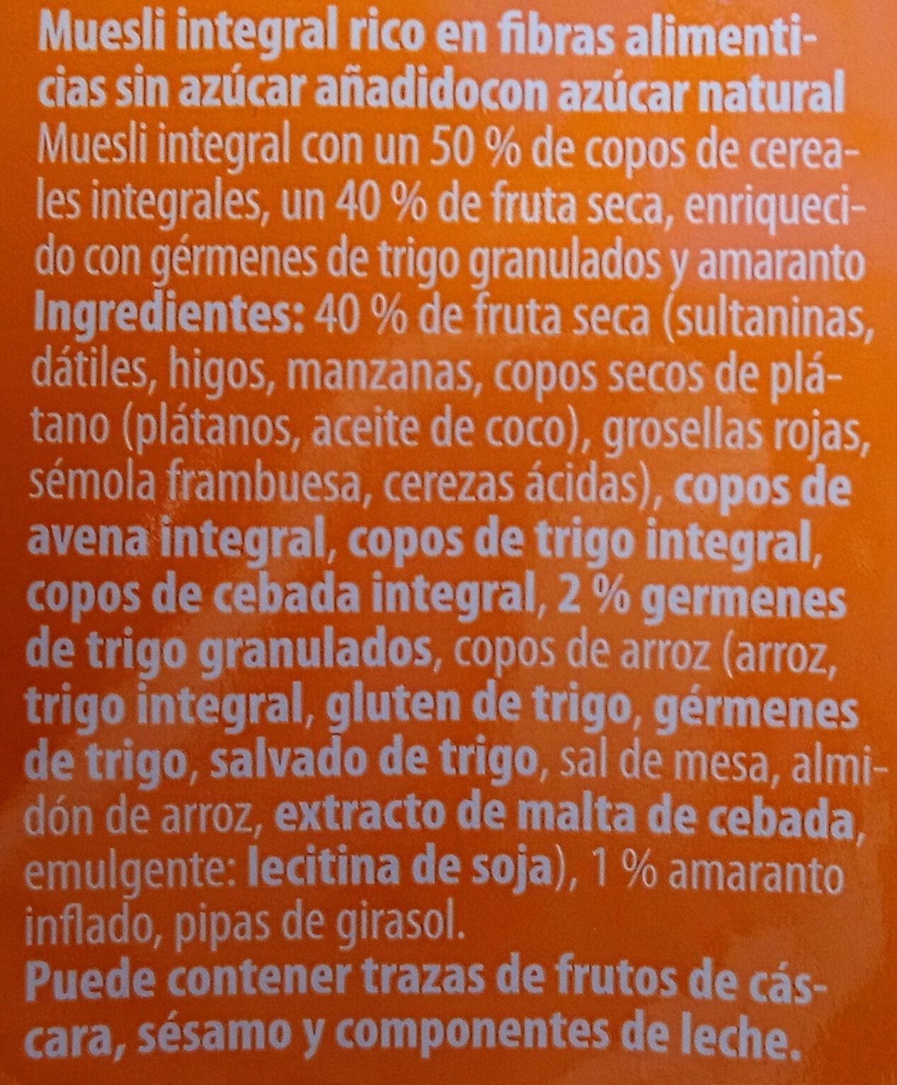 VITAL-Müsli - Ingredientes - es