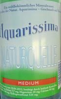 Aquarissima Naturquelle Medium - Produit