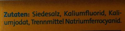 Alpen JodSalz ( Fluorid) - Ingredientes