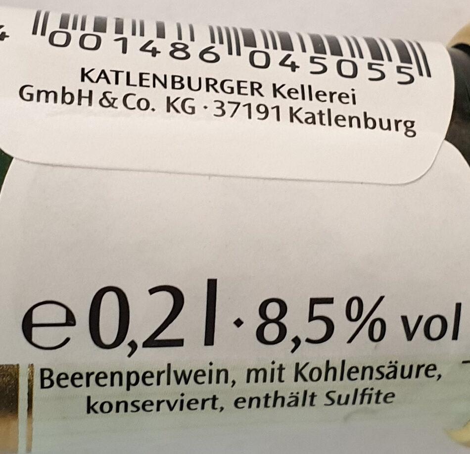 Exquisit BeerenSecco halbtrocken - Nutrition facts - de