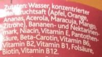 Hohes C Multivitamin - Ingrédients