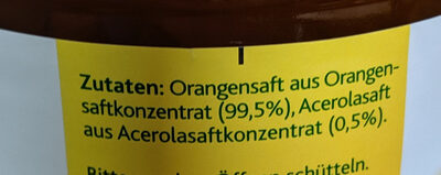 Milde Orange - Ingrédients - de