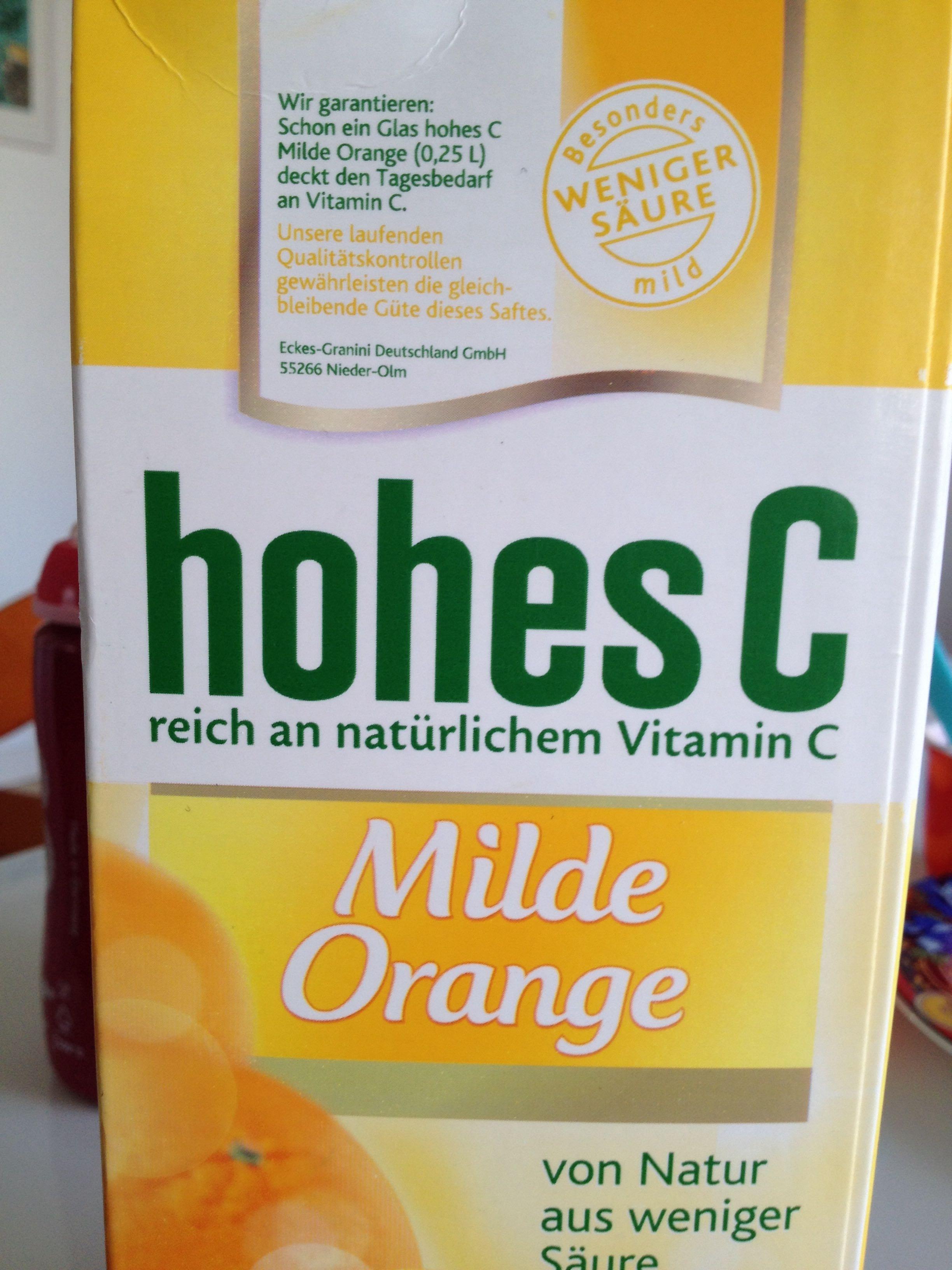 Milde Orange - Product