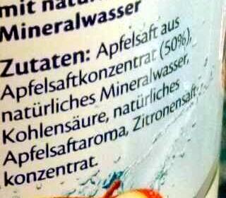 Gerolsteiner Apfelschorle - Ingrediënten