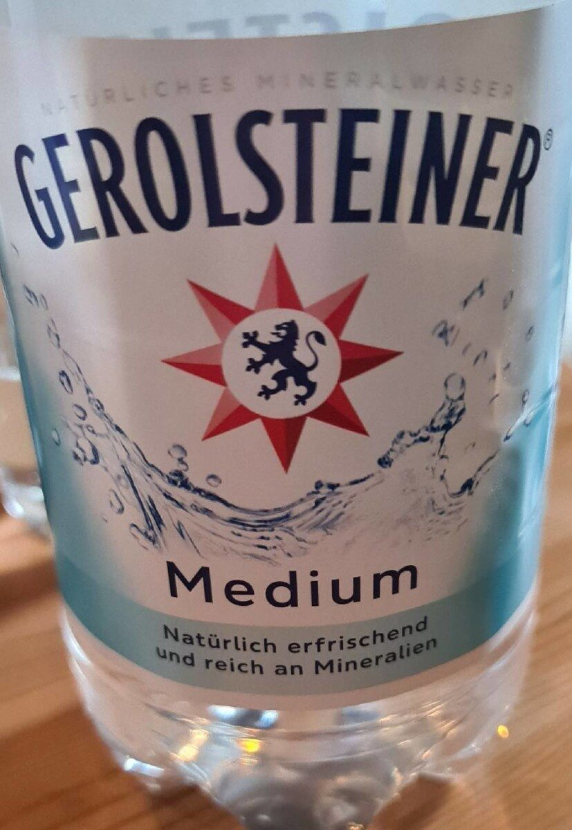 Gerolsteiner Medium - Nährwertangaben - de