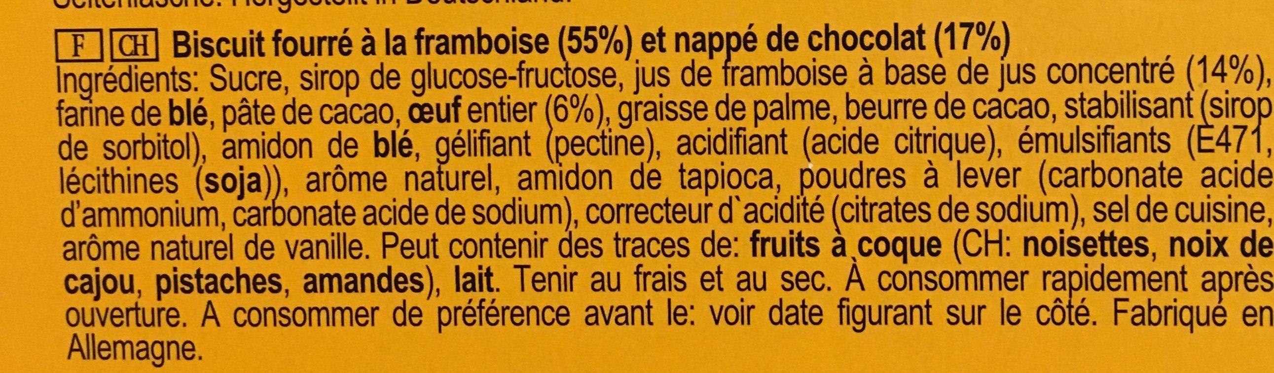Soft Cake Himbeere - Ingredients - fr