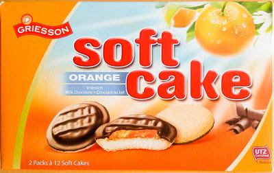 Soft cake Orange Vollmilch - Produit - de