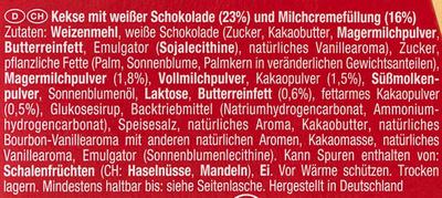 Glücks Kex - Ingrédients - de