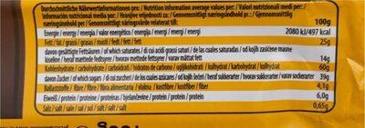 Cookie crispy brownie - Nutrition facts - de