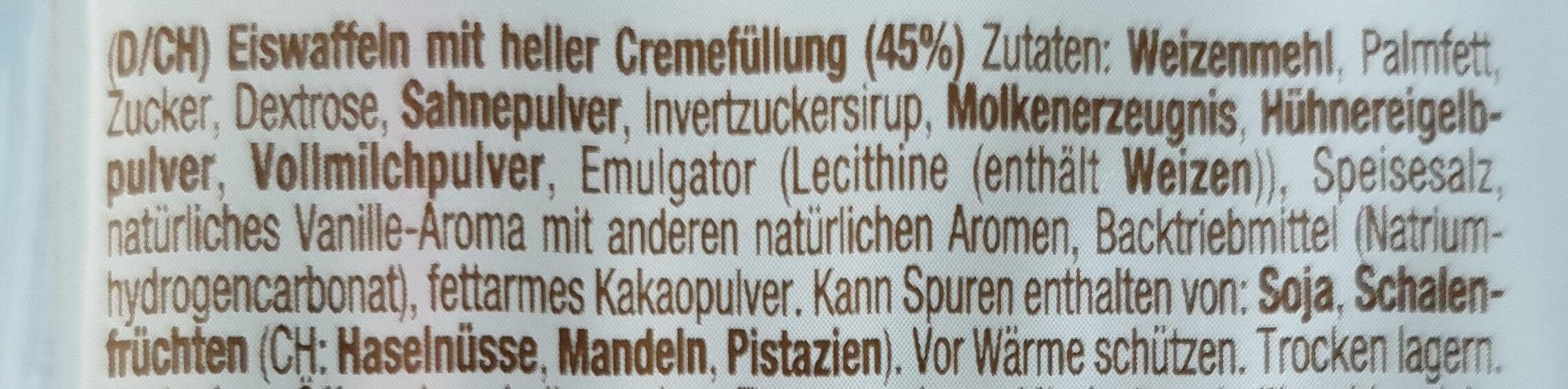 Eiswaffeln - Zutaten - de