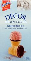 Decor Waffelbecher - Produit - de
