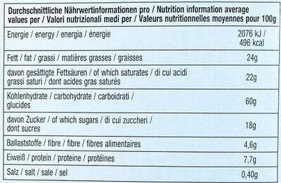 Decor Waffelbecher - Informations nutritionnelles - de