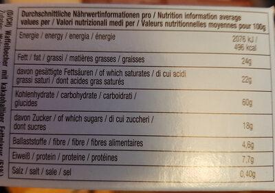 DeBeukelaer Decor on Ice Waffelbecher - Informations nutritionnelles