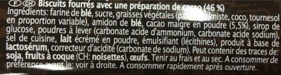 Duo Keks, Kakao - Ingredientes - fr