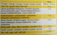 Tourinos - Feine Gebäckstangen - Nutrition facts