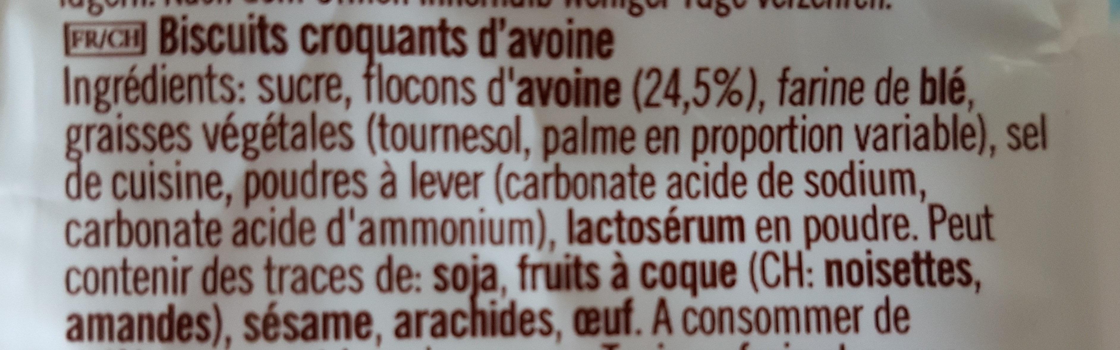 Cookie thins - Ingrediënten - fr