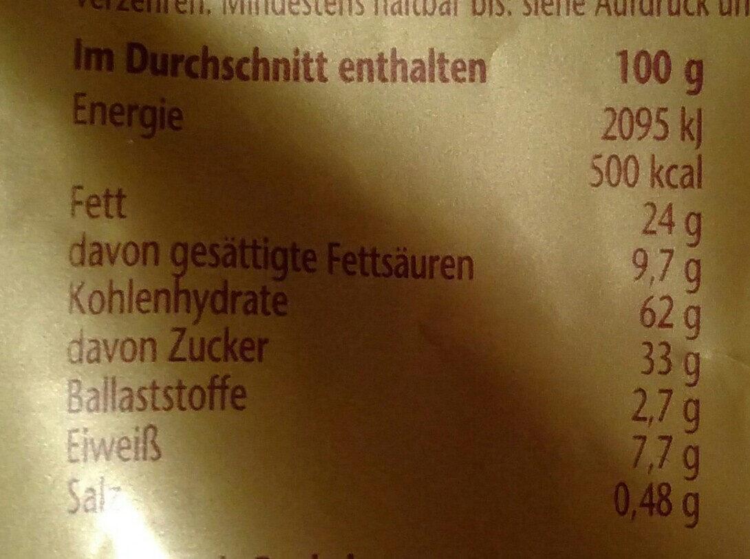 Prinzen Rolle Cremys - Nutrition facts - de