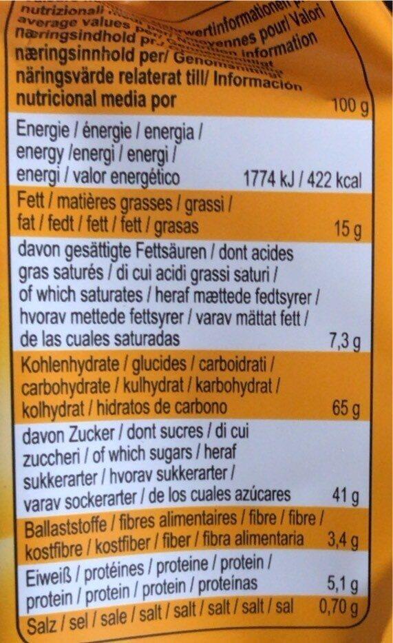 Soft Cake Cookie Orange - Valori nutrizionali - de