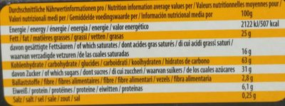 Cafe Musica - Nutrition facts
