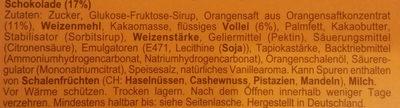 Soft Cake Orange - Ingrediënten
