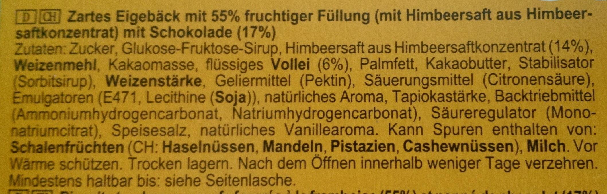 Soft Cake Himbeer - Ingredients - de
