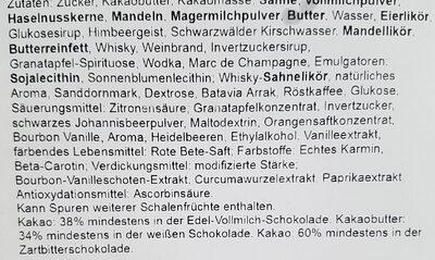 Confiserie Lauenstein Whisky-Cream-Trüffel-Ei - Inhaltsstoffe