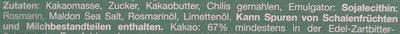 Rosmarin Limette Pfeffer - Inhaltsstoffe