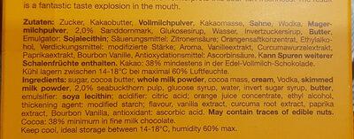Sanddorn gefüllte Schokolade - Ingredients