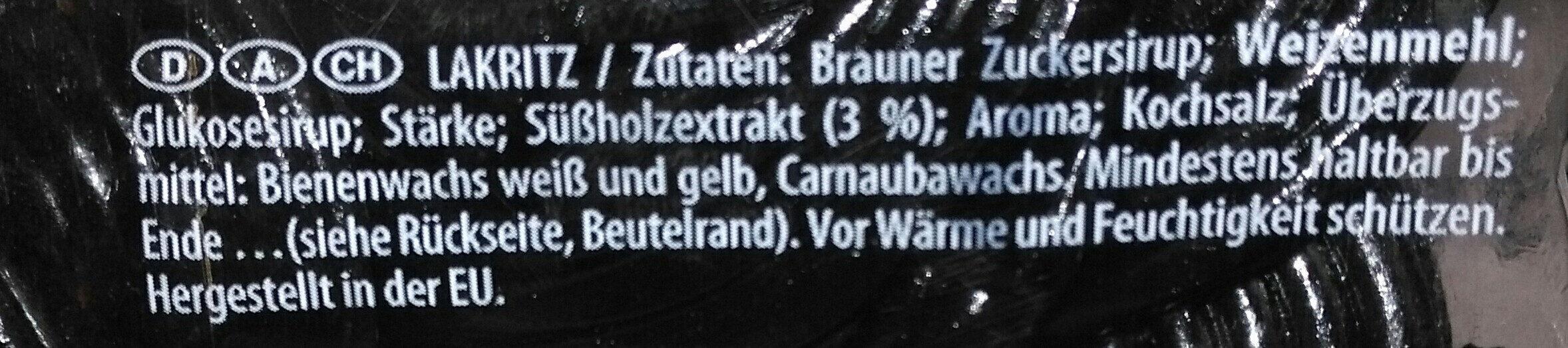 Lakritz Schnecken - Ingredientes