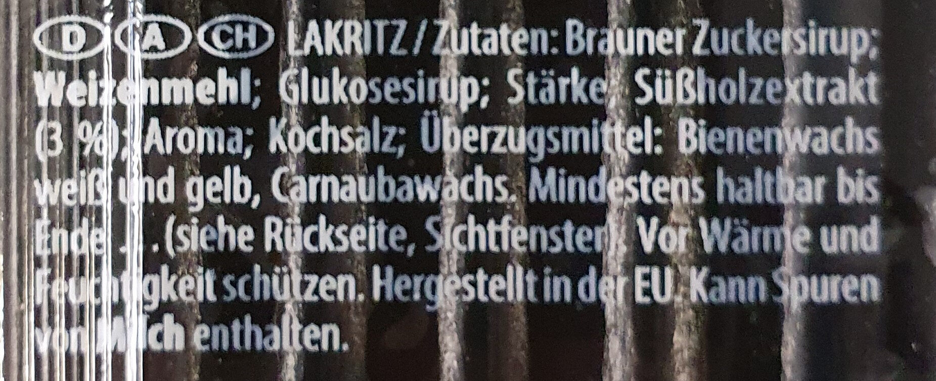 Haribo Goliath Lakritz-stangen - Zutaten - de