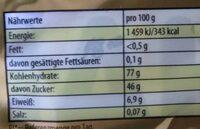 Haribo Goldbären - Nutrition facts