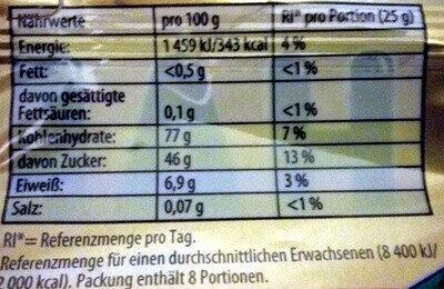 Goldbären - Informations nutritionnelles - de