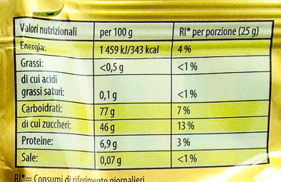 Goldbären - Informazioni nutrizionali
