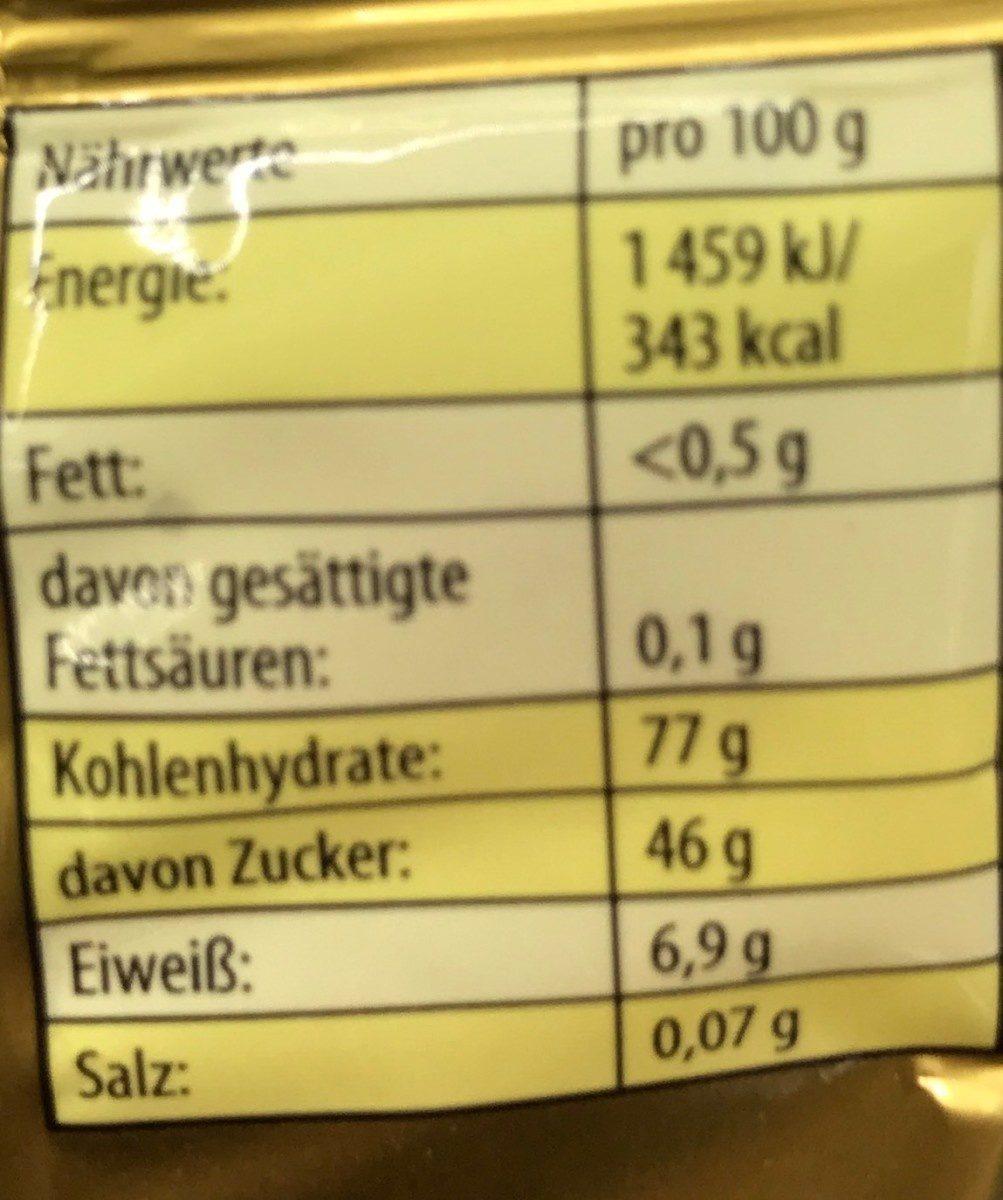 Haribo Goldbären 75G - Informations nutritionnelles - fr