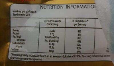 Goldbears - Nutrition facts - en