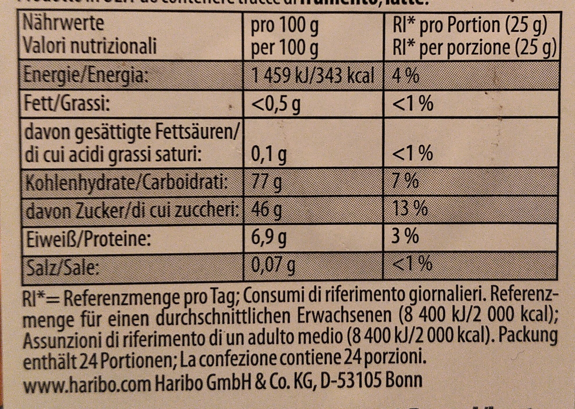 Halloween Partybox - Nutrition facts