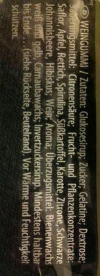 Haribo Weinland 200G - Inhaltsstoffe