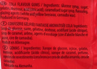 Haribo Happy Cola 100G - Ingredients - en