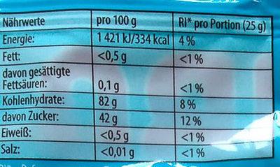 Die Schlümpfe - Informação nutricional - de