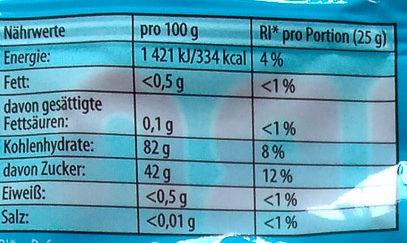 Die Schlümpfe Klein - Nutrition facts