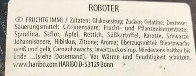 Haribo Roboter 150er Dose - Ingrediënten - de